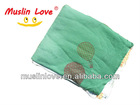 """70% Bamboo Rayon 30% Cotton Super Soft 43.5x72.5"""" After Washed Baby Muslin Swaddle Scarf"""