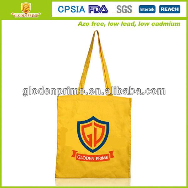 Fashion long handle organic cotton bags wholesale