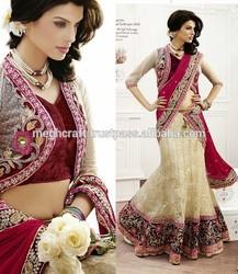 Heavy designer wedding lehenga sarees-Designer indian bridal lehenga sarees-new design indian sarees-bollywood fashion lehenga