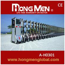 China automatic electric retractable folding iran main gate