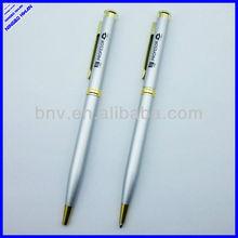 High quality aluminium barrel promotional thin metal ballpoint pen