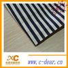 black and white cotton stripe fabric