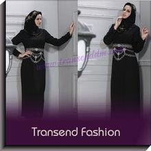 Transend fashion Butik Muslimah women black jubah abaya