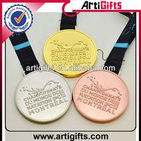 Wholesale gold silver copper metal winner medal