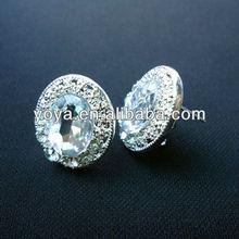 E1019 big stone earrings fashion 2013