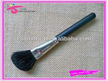 Goat hair angled makeup blush brush mat black