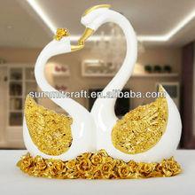 Crane couple figurine wedding favors swans