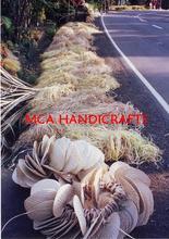 Ventilador de hoja de palma Palapa paja Raincape Lauhala estera