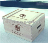 6 Bottle Wine Box Wood/Size ,Color can be custom/Hot sale