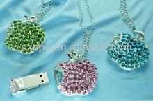 Apple shape jewel USB Flash for necklace