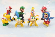 2-3inch PVC Super Mario Bros Luigi Donkey Kong Action 8 Style Figure Set