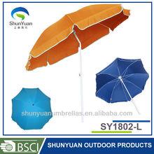 1.8M promotion polyester cheap easy sunshade flag beach umbrella