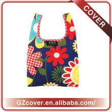 Fashional Flower printing foldable shopping bags