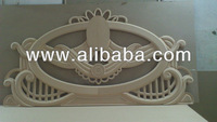 Engraved wooden bed parts