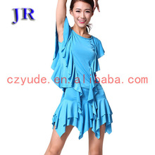 Young girls in short skirt girls' latin dance dress L-7014#