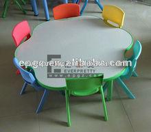 2013 school furniture, Adjustable MDF children school furniture/kids round desk and chair for kindergarten/nursery study set