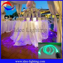 2013 new cheap dreamlike fiber optic wedding table decoration