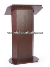 Pedestal de madeira púlpito da igreja com cereja terminou / Oval sala de aula suporte púlpito