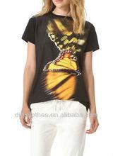 Butterfly print artistic charm t-shirt/custom t-shirt/clothing/apparel/blouse