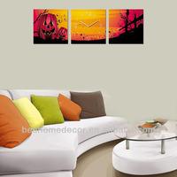 Halloween wall clocks best seller, canvas picture wall clock