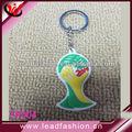 brasil 2014 llavero copa del mundo de promoción baratos personalizados de goma llavero