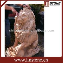 Big stone lions statues