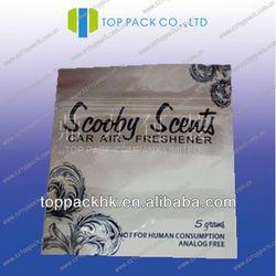 car air freshener aluminum foil 5g bag /scooby scents 5g bag