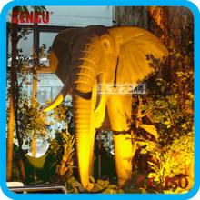 Animal theme park large elephant statues