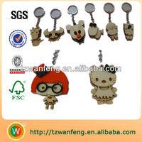 cute wooden key chain,wooden laser engraving keyring,fashion key chain