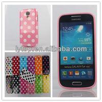 TPU Multicolor Polka Dot Style Back Case For Samsung Galaxy S4 mini 9190