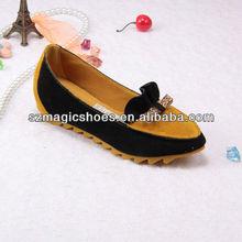 Yellow Black Leisure Comfortable Flat Female Shoes