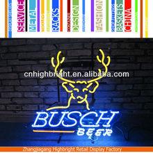 flashing advertisement neon sign