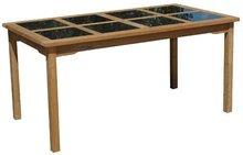 Rectangular Granite/Teak Table