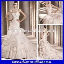 WE-1556 Soft cross-draping sweetheart neckline long tail pakistani wedding dresses sharara