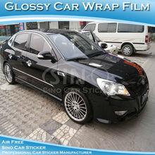 Glossy Black Color Change Wrap Vinyl Film For Car 1.52*30m