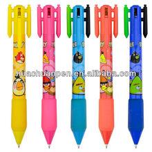 4 color rocket ball pen for kids, novelty ball pen