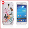 Hot Selling Flower Custom Design Soft TPU Galaxy S4 Mini Case