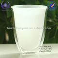 resistência térmica do jade branco dupla parede de vidro copo de cappuccino