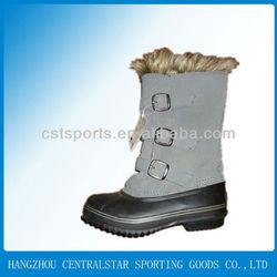 Split leather women snow boots YJ-12