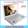 Cheap Laptop 13.3 inch Intel Atom D2250 WIFI Camera DVD-RW L600 For Students and Kids