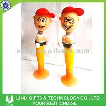 custom shape bouncing head novelty plastic toy pen