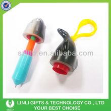 plastic telescopic fish personalized pen with cord