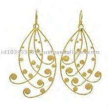 Brass Plating Earring