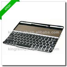 Hot selling aluminum wireless solar bluetooth keyboard for iPad 3 2