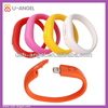 Wholesale with custom logo promotional silicone bracelet USB flash drives