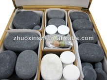 Best selling hot stone set basalt , beneficial to blood circulation