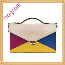 2013 Europe Fashion Envelope Women Coss Bags Handbags Manufacturer Patchwork Lady Handbags