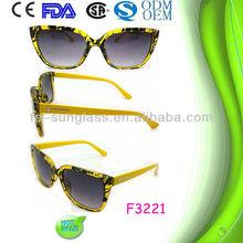 F3221 gafas de sol Wenzhou Top fashion design simple sunglasses with CE & FDA