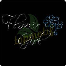 Bling Bling Hotfix Rhinestone Flower Girl wedding Motif for decoration T-shirt