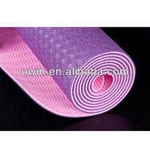 high quality durable yoga pilates mat easy care tpe yoga mat travel